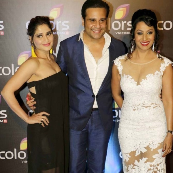 Arti with Krushna Abhishek and Kashmira Shah