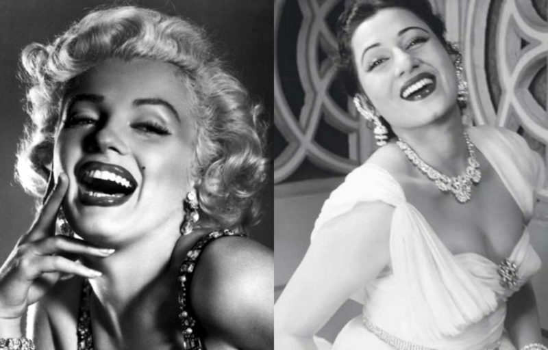 Marilyn Monroe and Madhubala