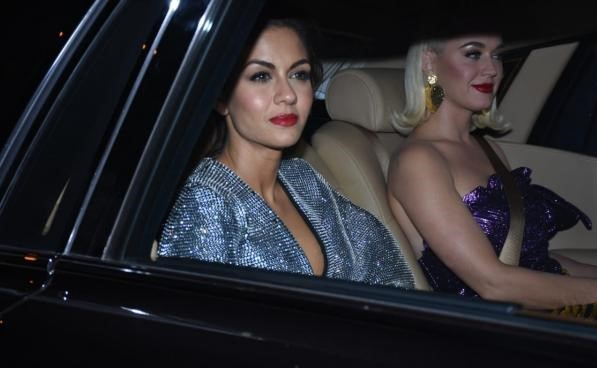 Natasha and Katy arrive at the party