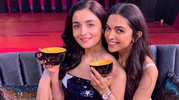 Alia Bhatt with Deepika Padukone