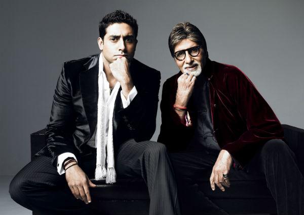 Abhishek Bachchan with father Amitabh Bachchan