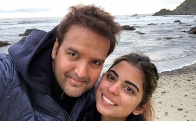 Anand with Wife Isha