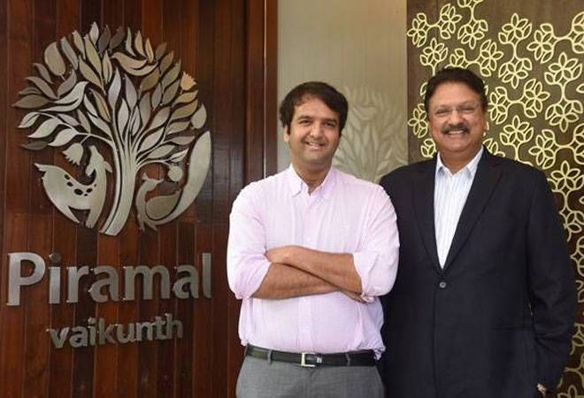 Anand Piramal with his father Ajay Piramal