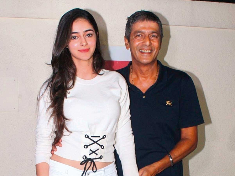Ananya Panday with father Chunky Pandey