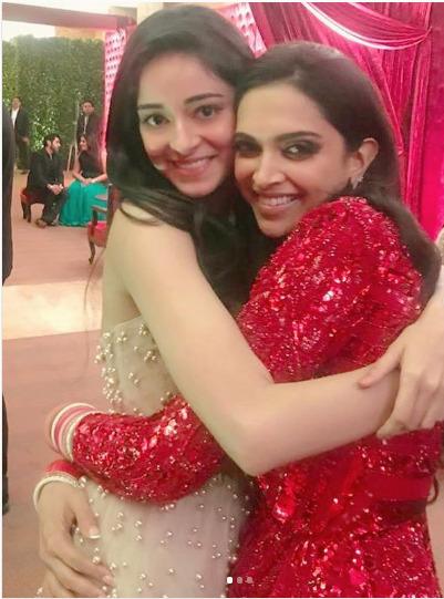 Ananya with Deepika Padukone