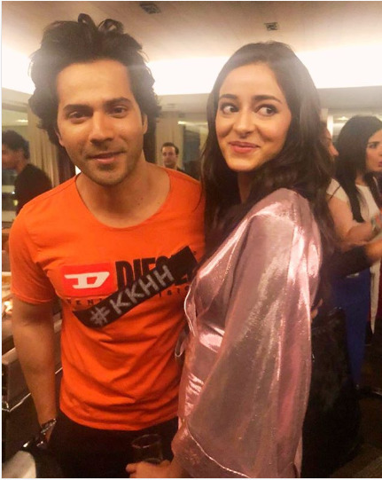Ananya with Varun Dhawan