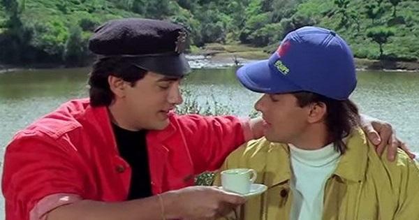 Aamir Khan & Salman Khan in the movie Andaz Apna Apna