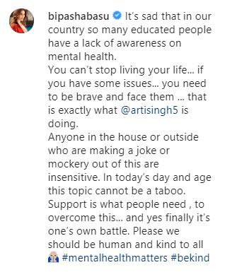 Bipasha Basu's comment