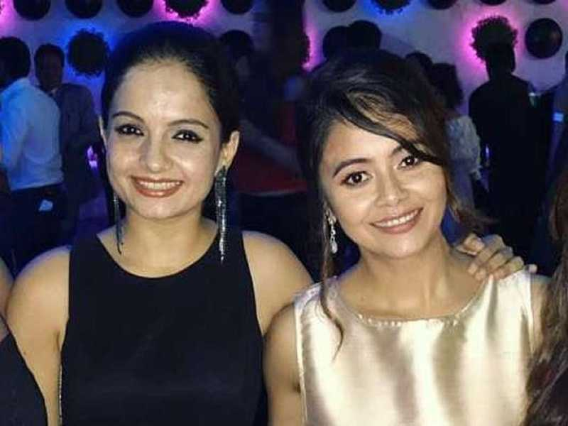 Devoleena Bhattacharjee with Giaa Manek