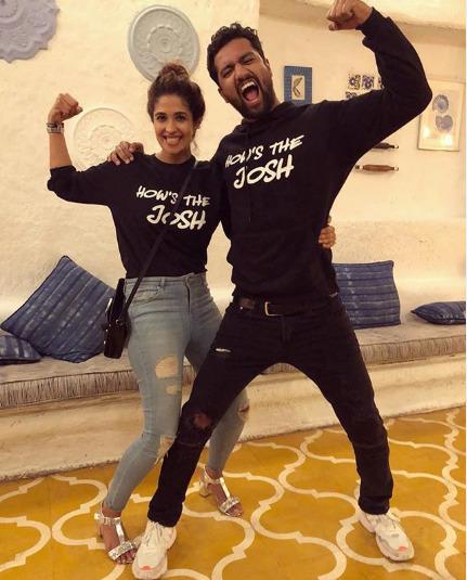 Harleen Sethi with Vicky Kaushal