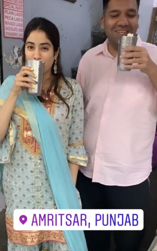 Janhvi Kapoor enjoying lassi