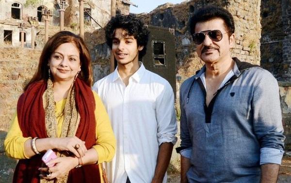 Ishaan Khatter with parents Rajesh Khattar and Neelima Azeem