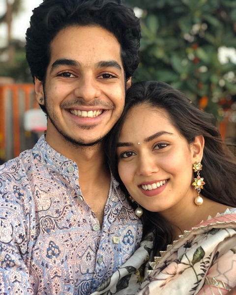 Ishaan Khatter with sister-in-law Mira Rajput