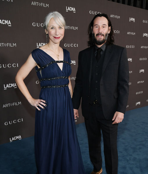 Keanu Reeves with Alexandra Grant