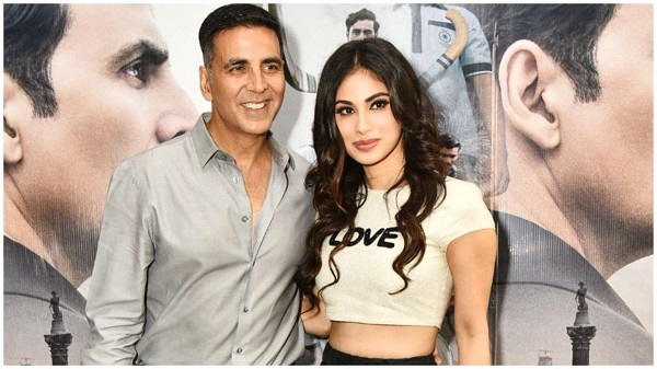 Mouni Roy with Bollywood actor Akshay Kumar