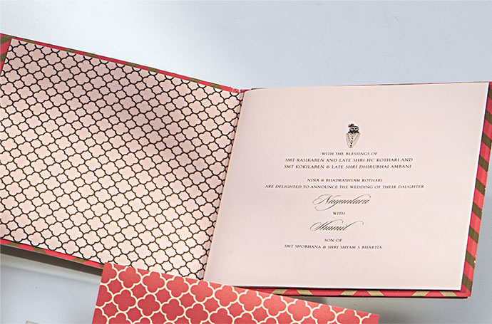 Kothari-Bhartia wedding invitation
