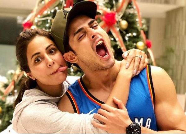 Priyank Sharma with Hina Khan