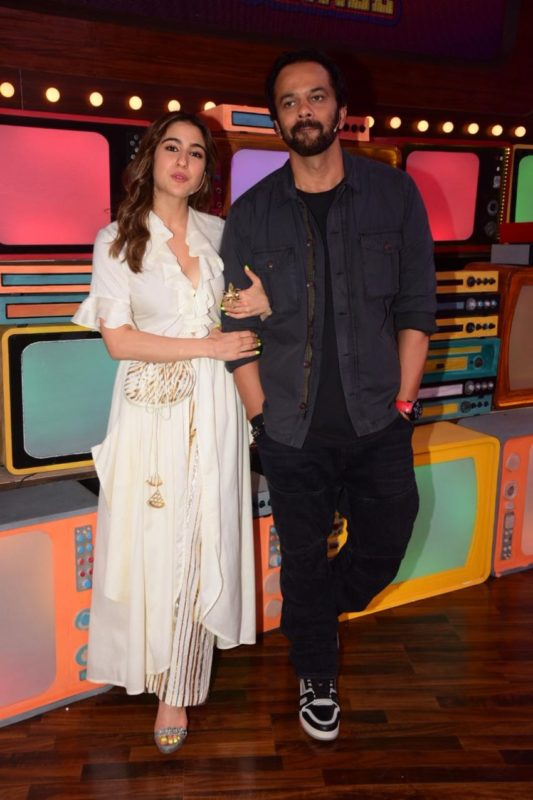 Sara Ali Khan with filmmaker Rohit Shetty