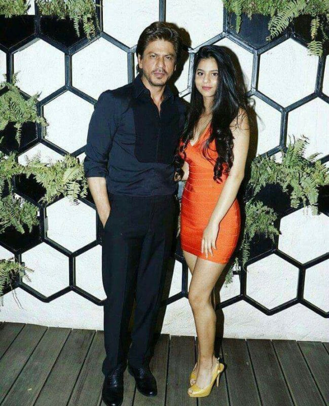 Suhana with his father (Shahrukh Khan)