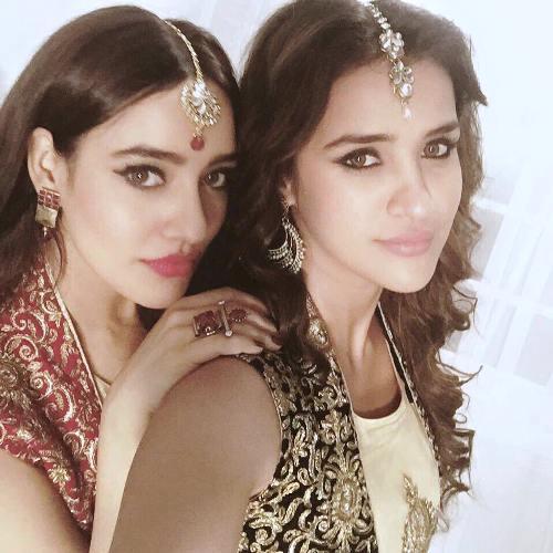 Aisha Sharma with Neha Sharma