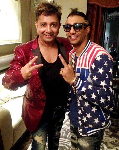 Akash Dadlani with Sukhwinder Singh