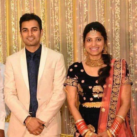 Amrapali Kata with Husband