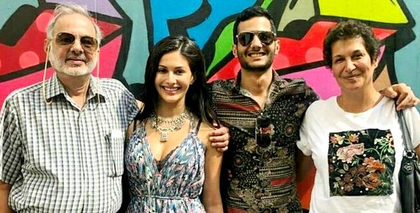 Amyra Dastur with her family