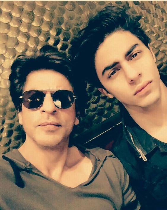 Aryan Khan with Shah Rukh Khan