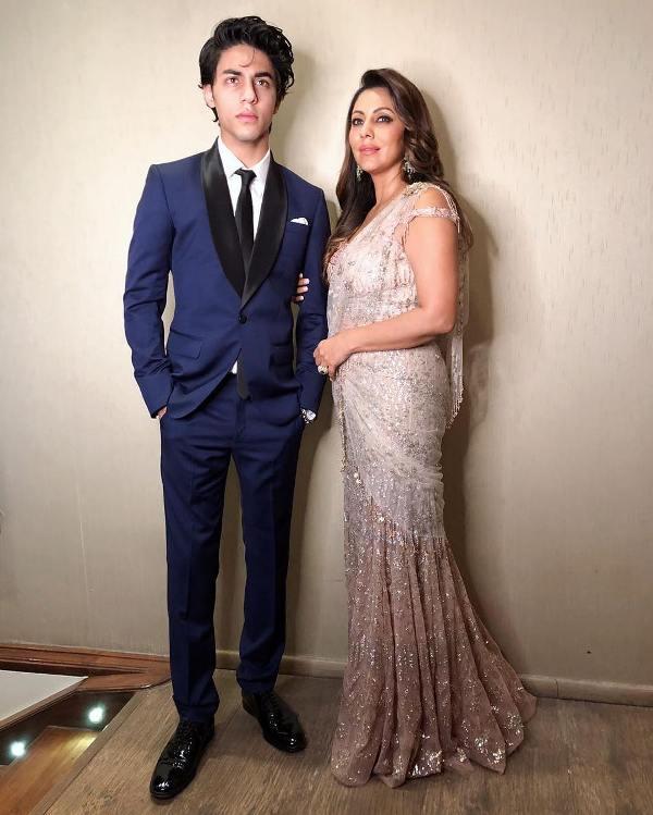 Aryan Khan with his mother Gauri Khan
