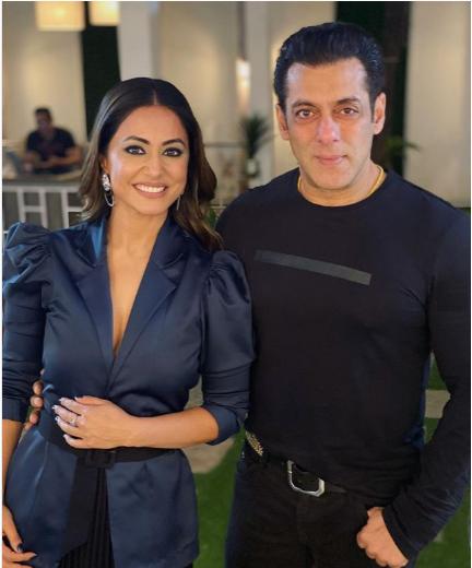 Hina Khan with Salman Khan