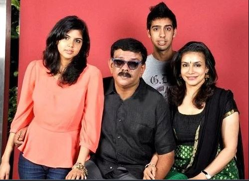 Kalyani Priyadarshan with her family