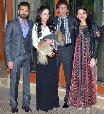 Kumar Gaurav with his family