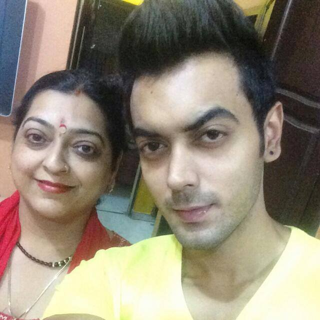 Luv Tyagi with his mother Sunita Tyagi