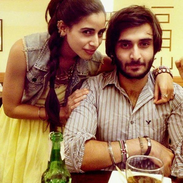 Rohan Mehra with his sister Kiran Mehra