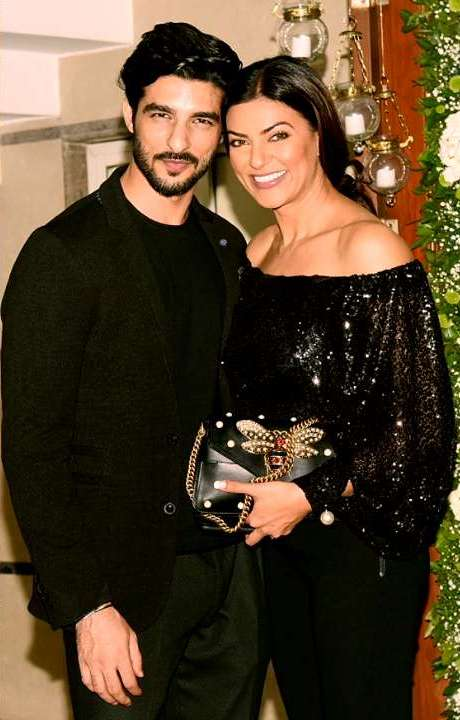 Rohman Shawl with his alleged GF Sushmita Sen
