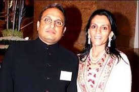 Russell Mehta with his wife