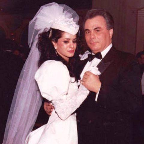 Victoria DiGiorgio with Husband John Gotti
