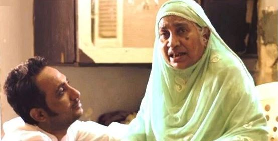 Zubair Khan with his mother