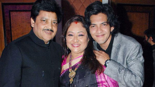 Aditya Narayan With Family