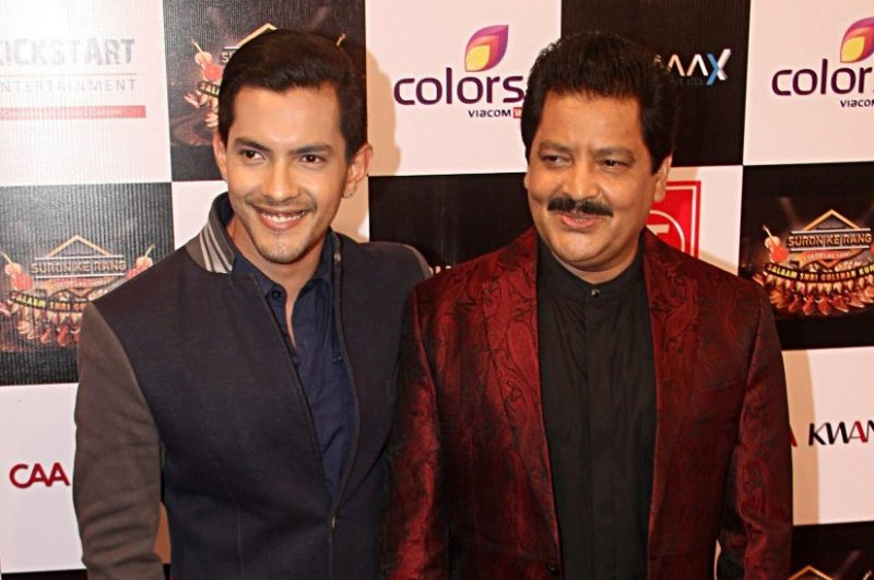 Aditya Narayan with his Father Udit Narayan