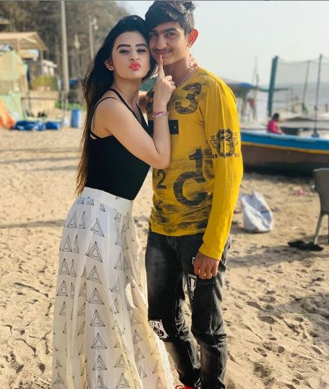Ankita with her brother Gautam Dave