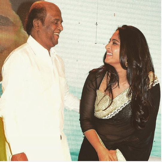 Anushka Shetty with Rajinikanth