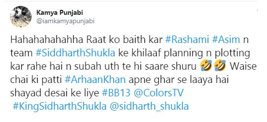 Kamya Punjabi's tweet