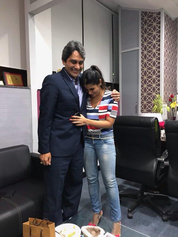Rubika with Sudhir Chaudhary