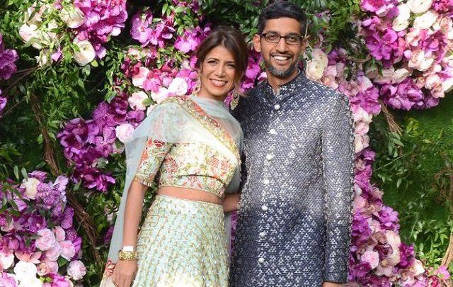 Anjali Pichai with her husband Sundar Pichai