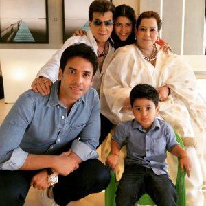 Ekta Kapoor with her family