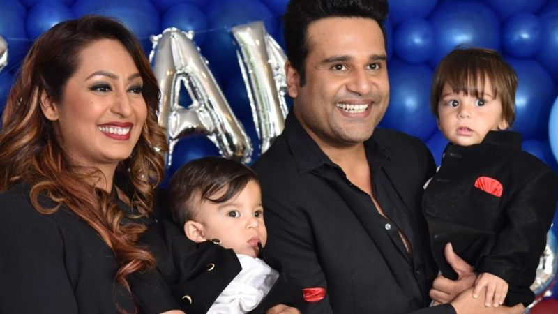 Kashmira Shah with her family