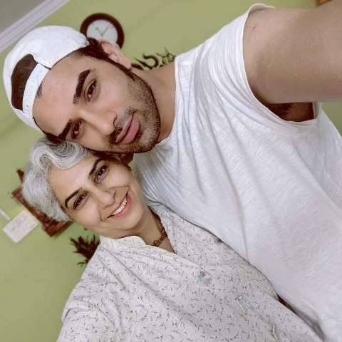 Paras Chhabra with his mother
