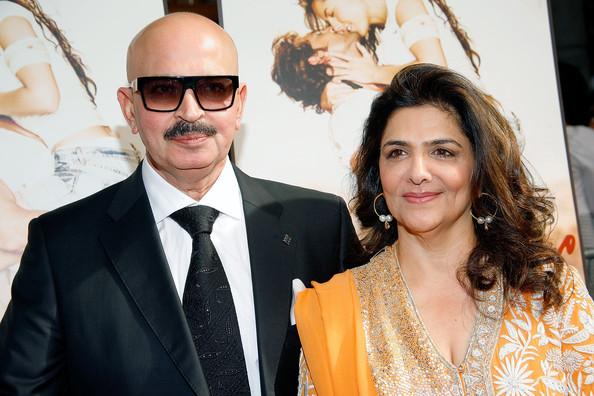 Pinky Roshan with Rakesh Roshan