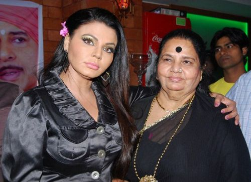 Rakhi Sawant with her mother